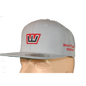 Whitlam Classic Snapback - Silver w/Red